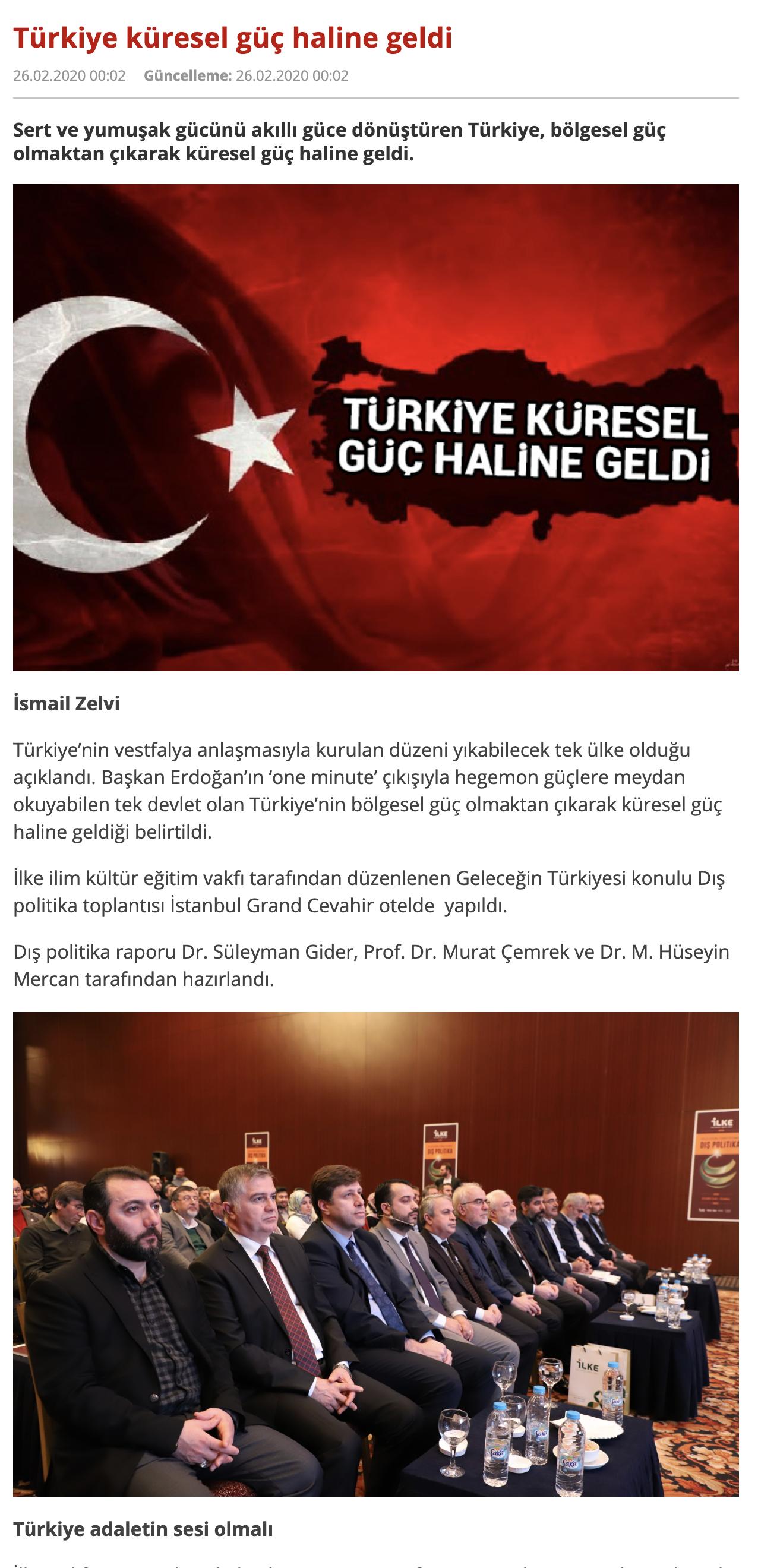 Türkiye Küresel Güç Haline Geldi