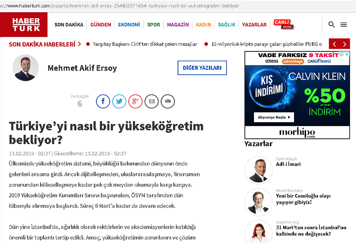 Türkiye'yi Nasıl Bir Yükseköğretim Bekliyor? - Haberturk