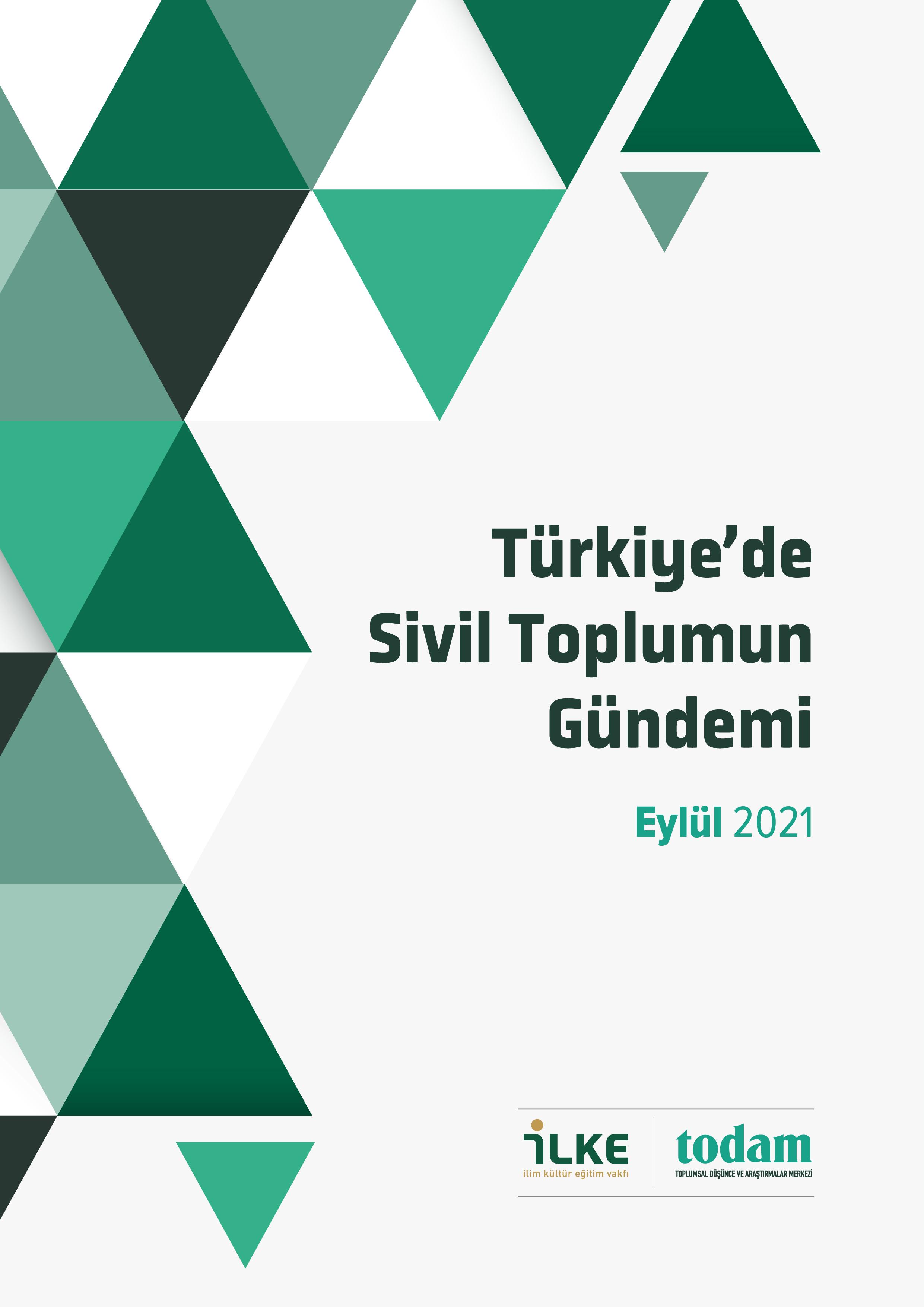Türkiye'de Sivil Toplumun Gündemi Eylül 2021 Sayısı Yayımlandı